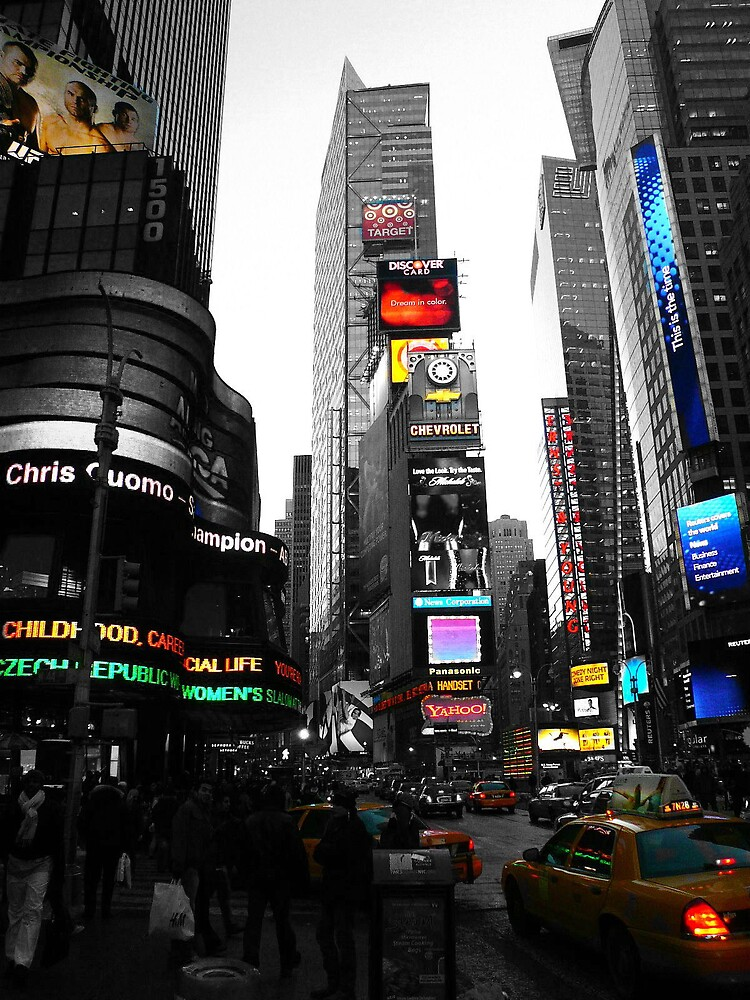 Times Square NYC by grimbomid