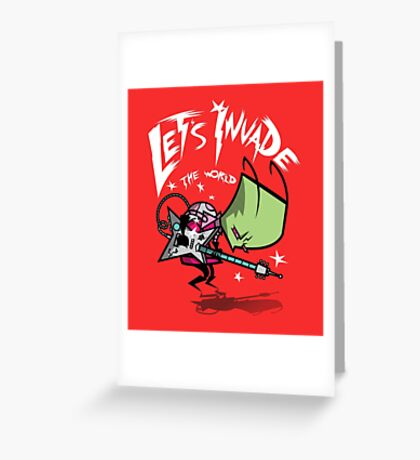 Invade the World Greeting Card