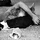 Richard III - Homeless in Black and White, NYC by Judith Oppenheimer