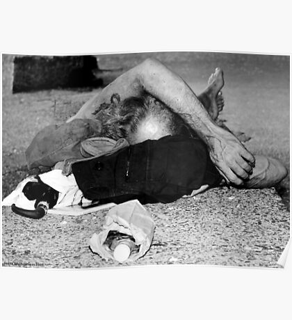 Richard III - Homeless in Black and White, NYC Poster