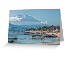 The View of Mt Agung from Nusa Lembongan Greeting Card