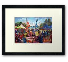 Stallholders Alley - Caloundra Music Festival Framed Print