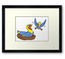 Bird Mother And Chick Framed Print