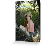 Girl in Hat Greeting Card