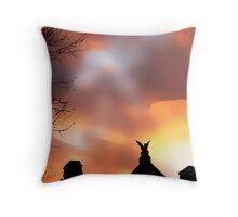 Silhouette Sorg House Throw Pillow