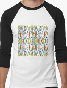 micro-eloi kaleidoscope mirror Men's Baseball ¾ T-Shirt