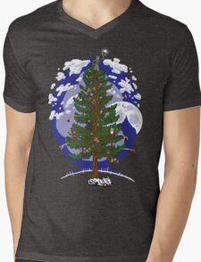 Silent Night, Hobbit Night Mens V-Neck T-Shirt