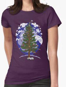 Silent Night, Hobbit Night Womens Fitted T-Shirt