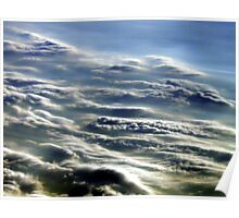 Contrasting Clouds Poster