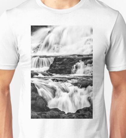 Iguaza Falls - back in close - monochrome Unisex T-Shirt