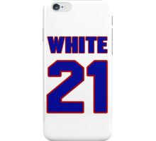 National Hockey player Bill White jersey 21 iPhone Case/Skin