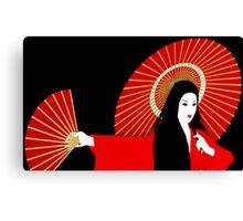 Red Geisha Canvas Print