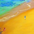Sea & Sand, Bar Beach, Newcastle, NSW, Australia by Carole Elliott