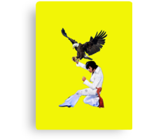Elvis Hunts with an Eagle Canvas Print