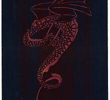 Silkscreens - 0008 - Spiral Dragon by wetdryvac