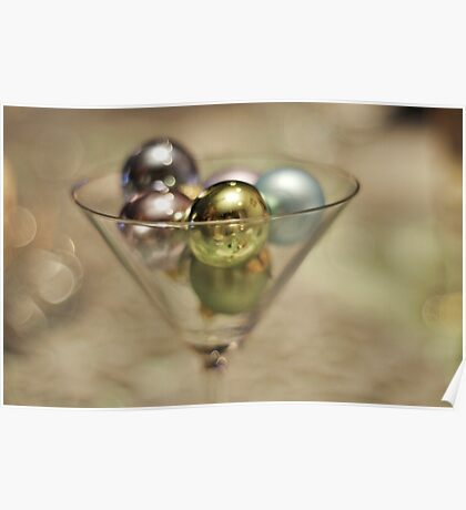 Baubles in a glass Poster