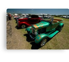 Hot Rods - Green and Red, Evans Head Fly-In Canvas Print