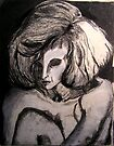 Life drawing  Charcoal ....Portrait of Isabel  by Virginia McGowan