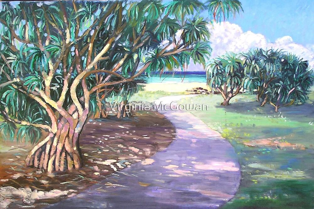 Ballina Beach Pathway by Virginia McGowan