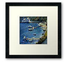 Deep Blue Lavender Bay, Sydney Harbour Framed Print