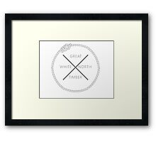 Great White North Timber Framed Print