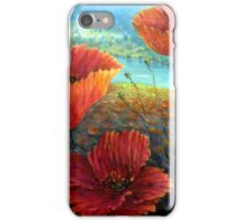 Three Poppies Provence, France Square iPhone Case/Skin