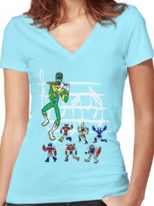 The Green Piper Women's Fitted V-Neck T-Shirt