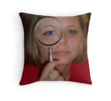 Magnifying Glass Eye Throw Pillow