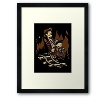 Hold onto your Potatoes, Dr. Hobbes! Framed Print