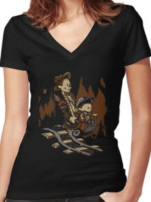 Hold onto your Potatoes, Dr. Hobbes! Women's Fitted V-Neck T-Shirt