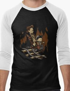 Hold onto your Potatoes, Dr. Hobbes! Men's Baseball ¾ T-Shirt