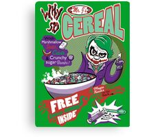 Why So Cereal? Canvas Print