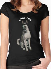 Cool Dog Solitary Women's Fitted Scoop T-Shirt