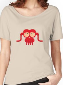 Knubbeldinger red Women's Relaxed Fit T-Shirt