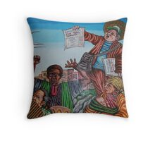 CORK MURAL COMPLETED Throw Pillow