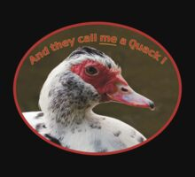 "Muscovy Duck ""Quack"" T-Shirt by Delores Knowles"