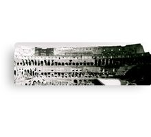 The Colosseum - In Black & White Canvas Print