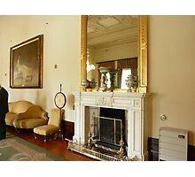 *Beautiful Fireplace and ornate Mirror* Photographic Print