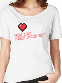 Pixel Heart Love Designer Women's Relaxed Fit T-Shirt