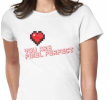 Pixel Heart Love Designer Womens Fitted T-Shirt