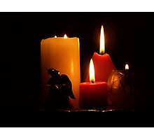 Candles with Angel Photographic Print