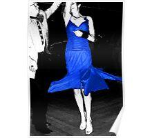 Blue Dress Dancing Poster