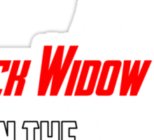 Black Widow in the Making Sticker