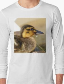 Just A Little Dribble - Rescued Duckling - NZ Long Sleeve T-Shirt