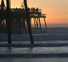 Pismo Beach Pier At Sunset by Christena Honeyman