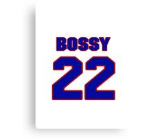 National Hockey player Mike Bossy jersey 22 Canvas Print