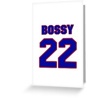 National Hockey player Mike Bossy jersey 22 Greeting Card