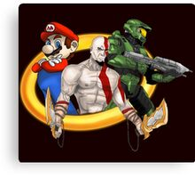 Console Mascots team up Canvas Print