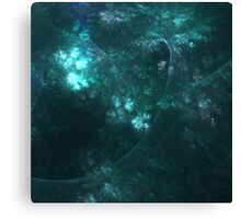 Blue Sky Peekin Through The Forest Surrounding The Garden of Eden | Fractal Starscape Canvas Print