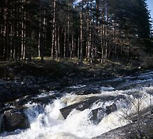 Waterfall in Glen Orchy by Tim Haynes